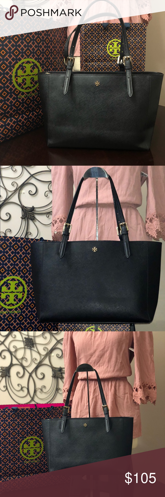 acaab74de945 Authentic Tory Burch York buckle small Tote Great pre-owned condition.  Clean inside and