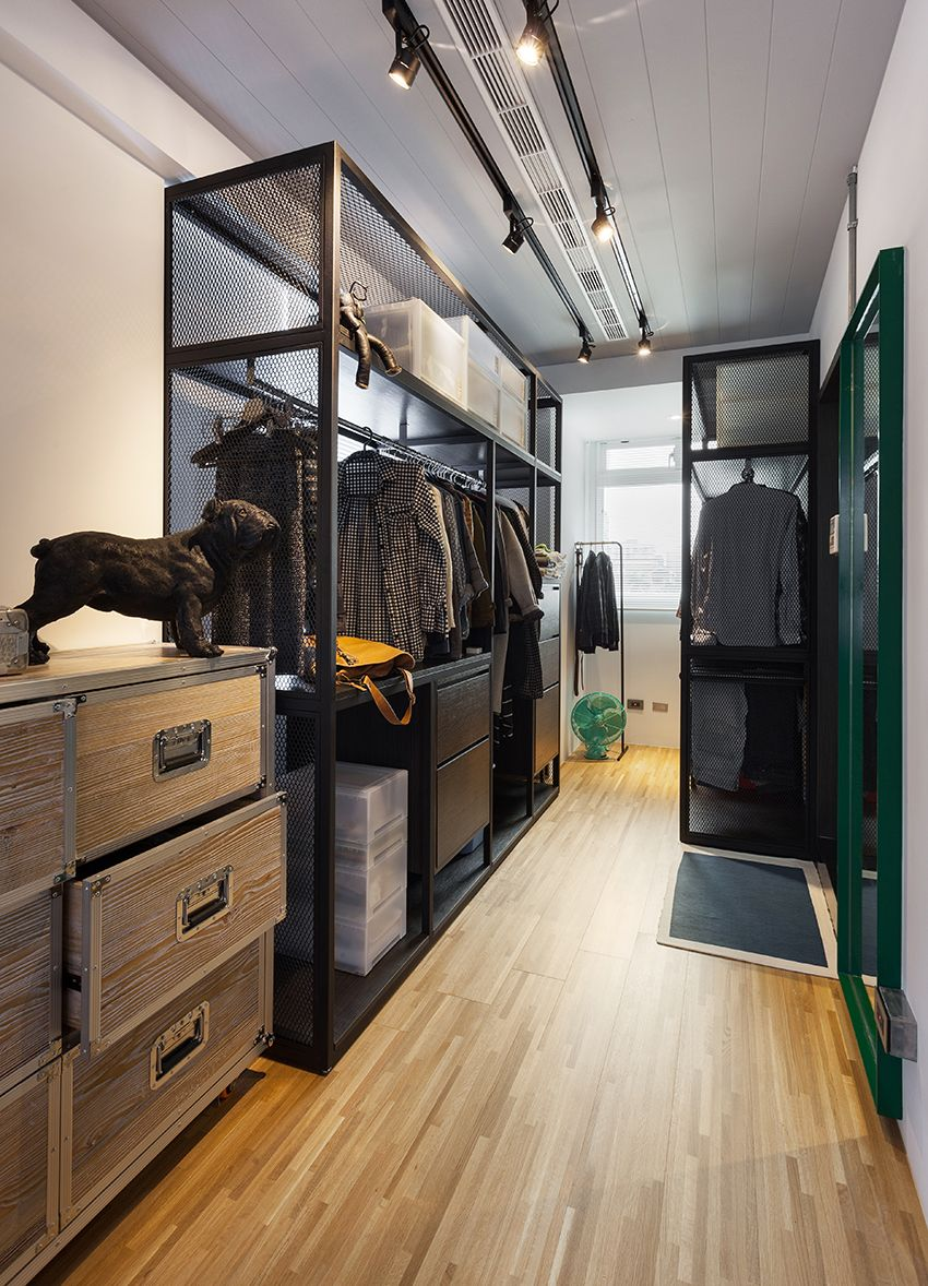 台北 14 坪清爽工業風小套房 Bedroom Closet Design Closet Decor