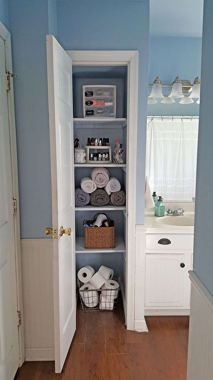 Organized Linen Closet Small Linen Closets Simple