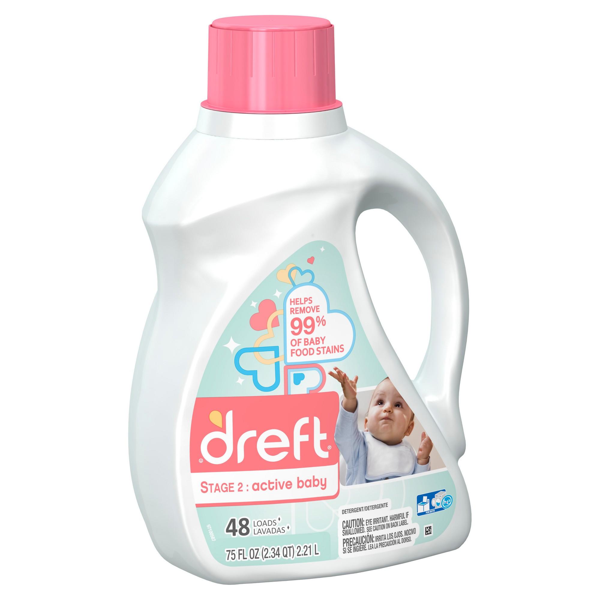 photo regarding Dreft Printable Coupon titled Dreft Hectic Youngster Liquid Laundry Detergent - 75oz Goods