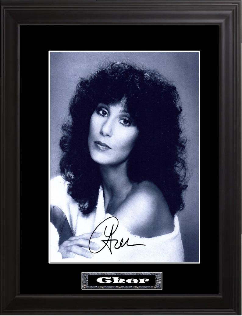 Cher Autographed Photo In 2020 Photo Autograph Wood Frame