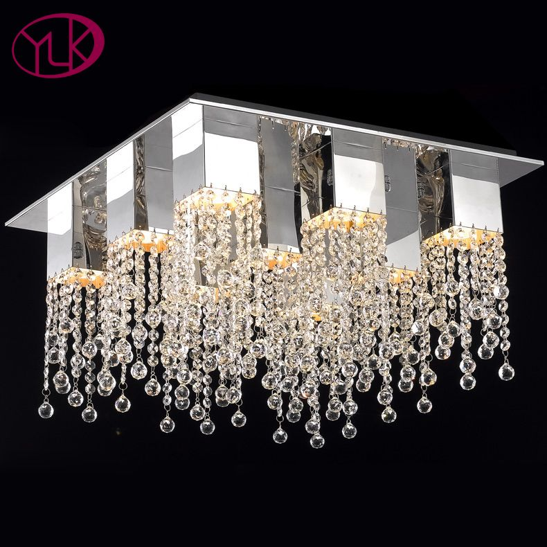 New Arrival Modern Crystal Chandelier For Living Room Top Quality Square Home Lighting Fix Modern Crystal Chandelier Chandelier In Living Room Crystal Lighting