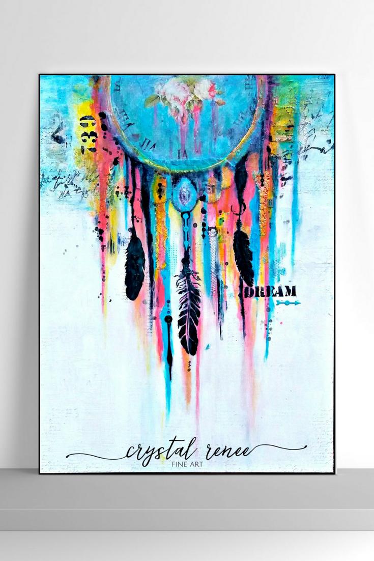 Dream Catcher Mixed Media Art Original Art By Crystal