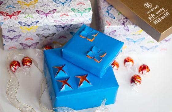 DIY: Easy Cutout Gift Wrap  #PaperCraft #Holidays #Christmas