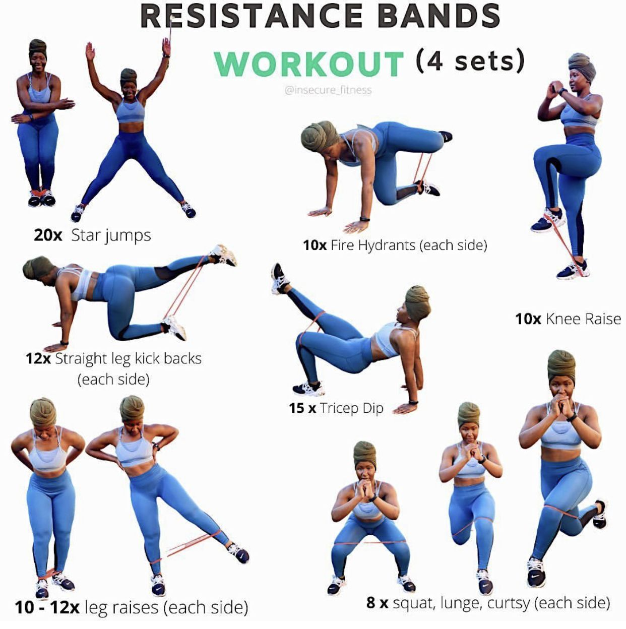 Pin By Andrea On Fit Plan In 2020 Resistance Band Workout Resistance Band Band Workout