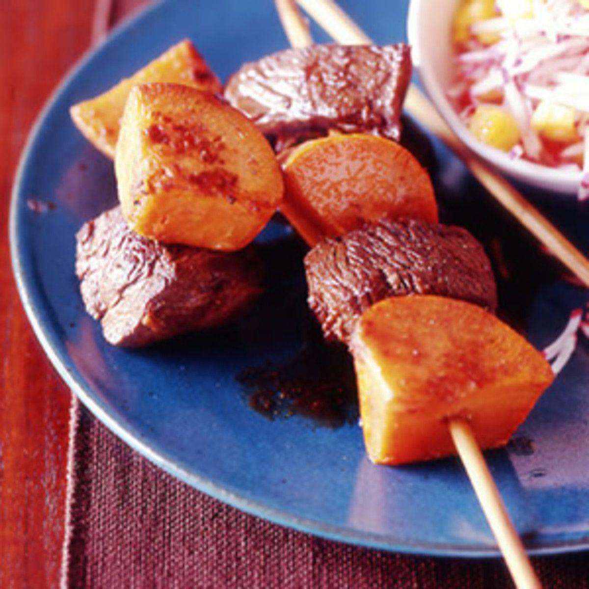 jamaicanstyle beef kebabs  recipe  food recipes food