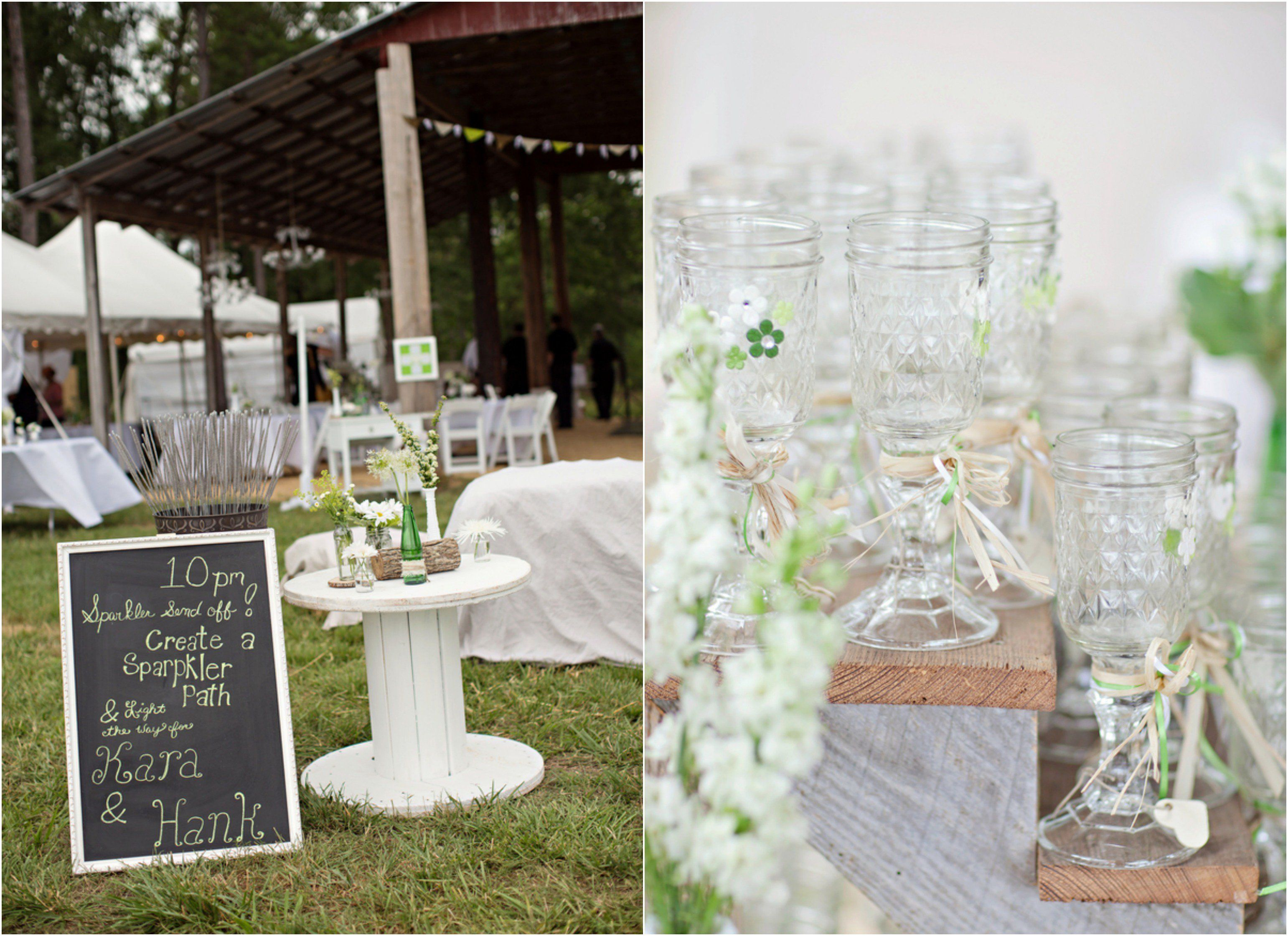 Wedding decorations country  Georgia Barn Wedding With Vintage Style Decorations  Country