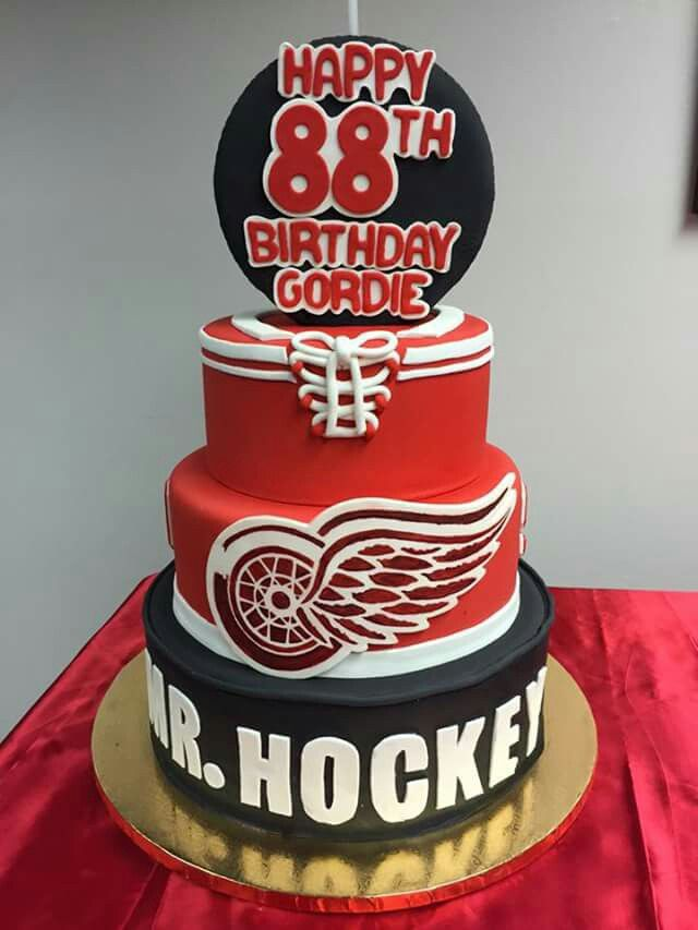 Mr Hockey 88th birthday cake Detroit Red Wings Pinterest