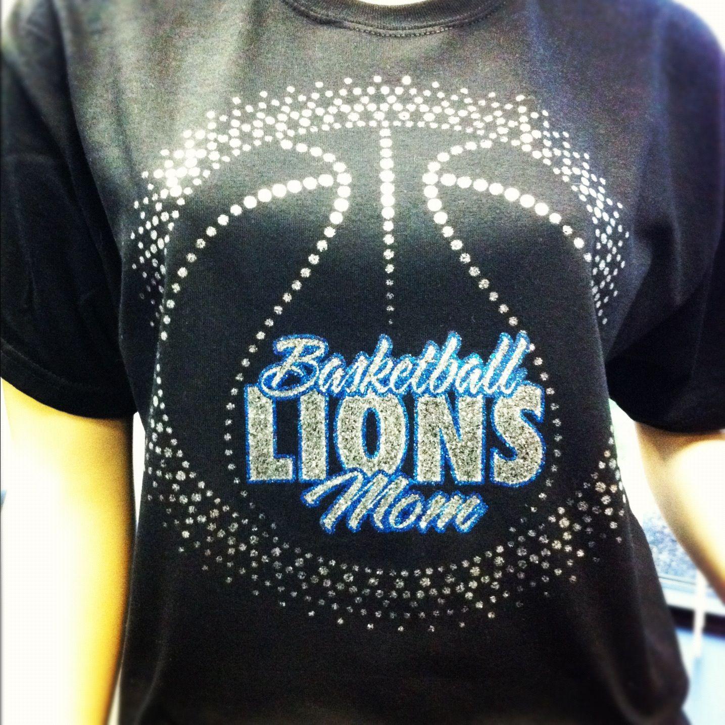 BasketballMom t-shirt design with glitter faux rhinestones: QBK-155 ...
