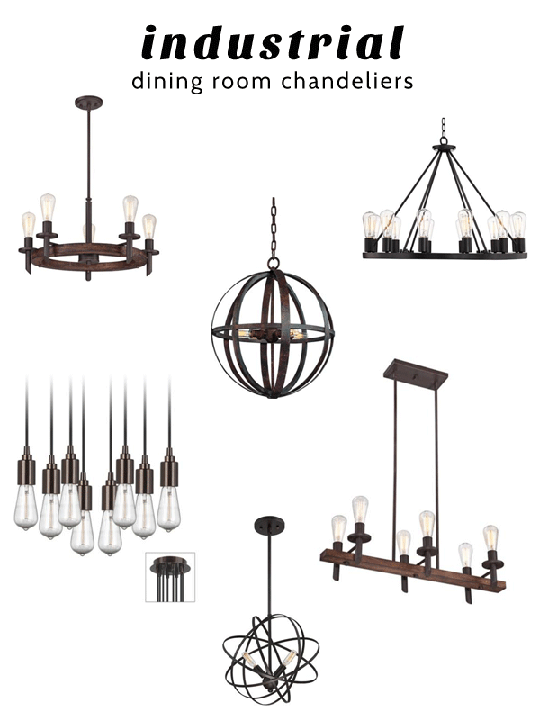 Industrial Dining Room Chandeliers With Images Industrial