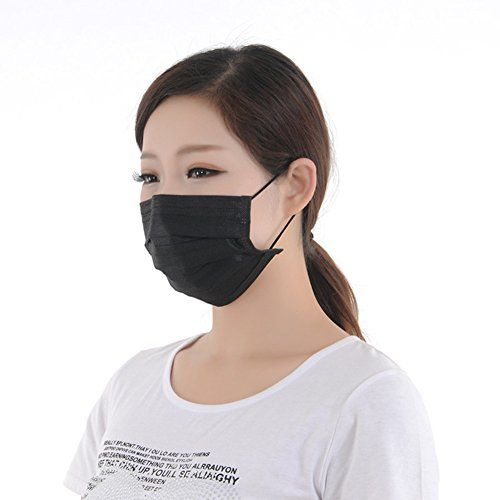 50 pcs disposable respirator earloops mouth face masks