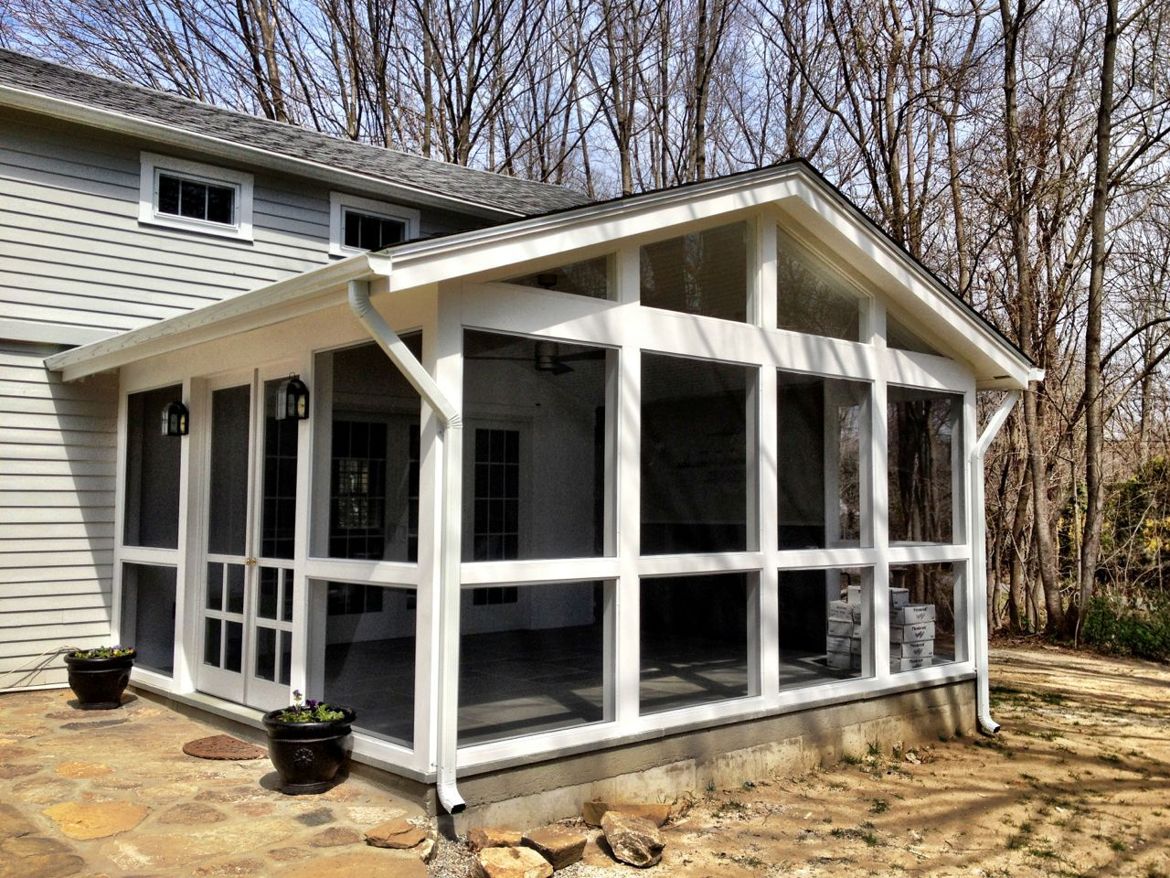 Screened Porch Attach It Off The Master Bedroom Traditional