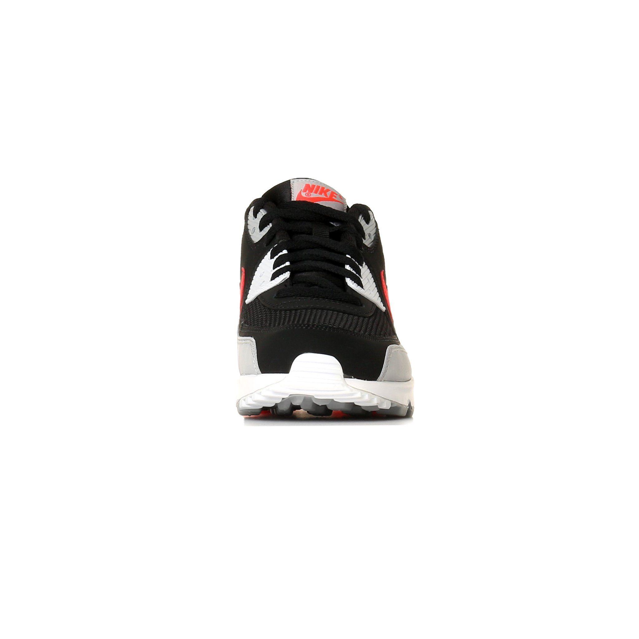Nike Air Max 90 Essential Wolf Grey Bright Crimson UK