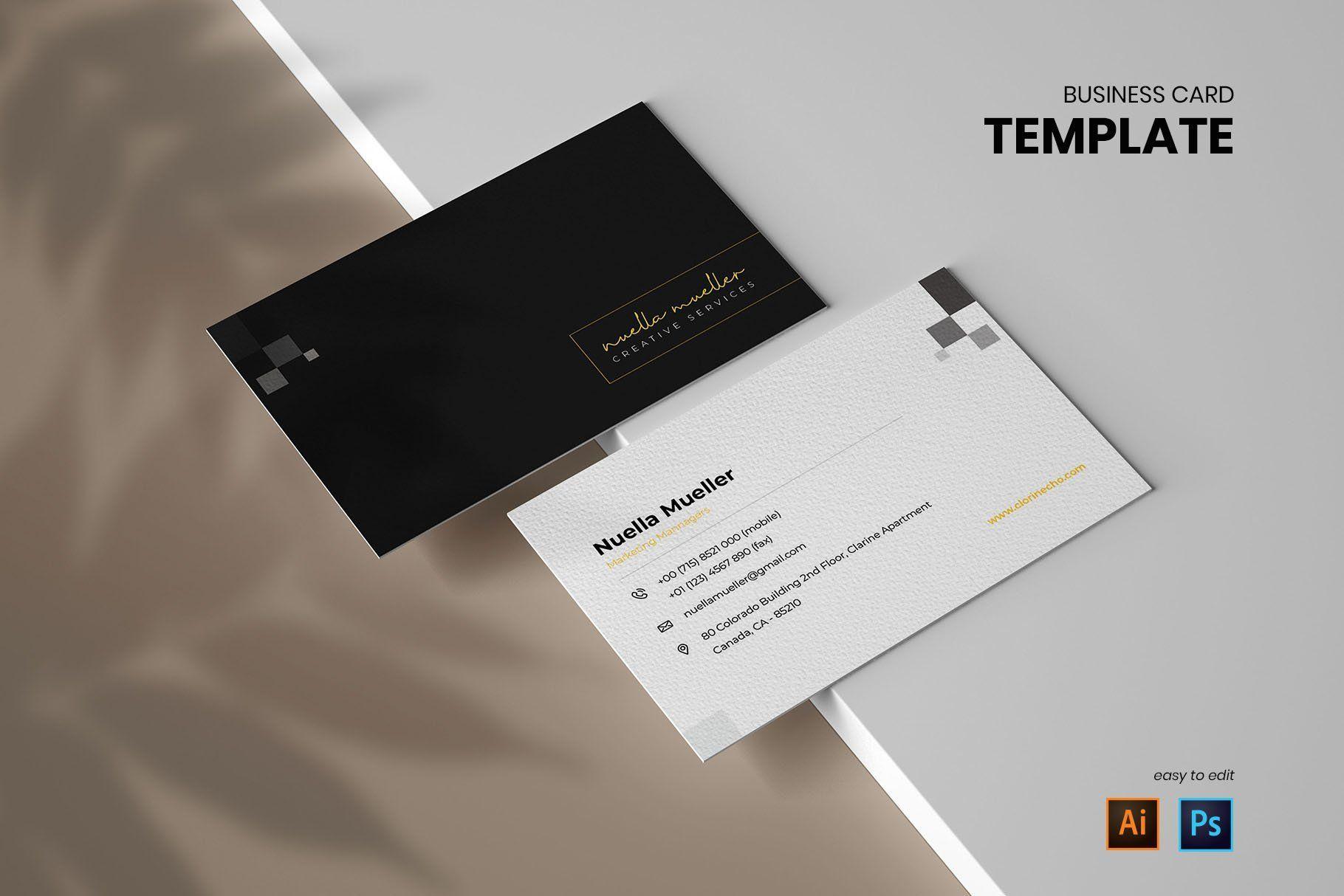 Minimalist Business Card Vol 03 Minimalist Business Cards Business Cards Creative Templates Business Cards Creative