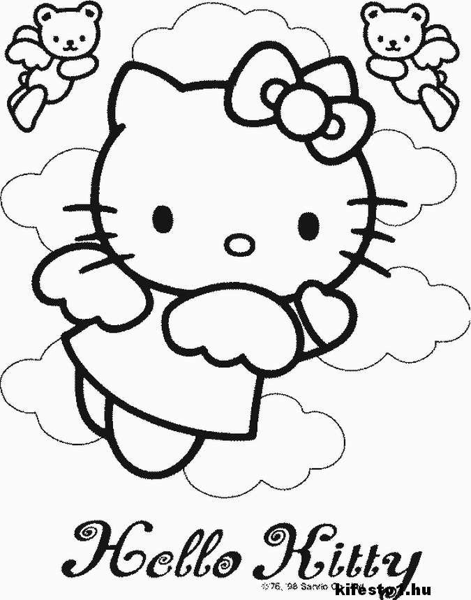 Hello Kitty 3 kifestő nyomtatható | mokus | Pinterest