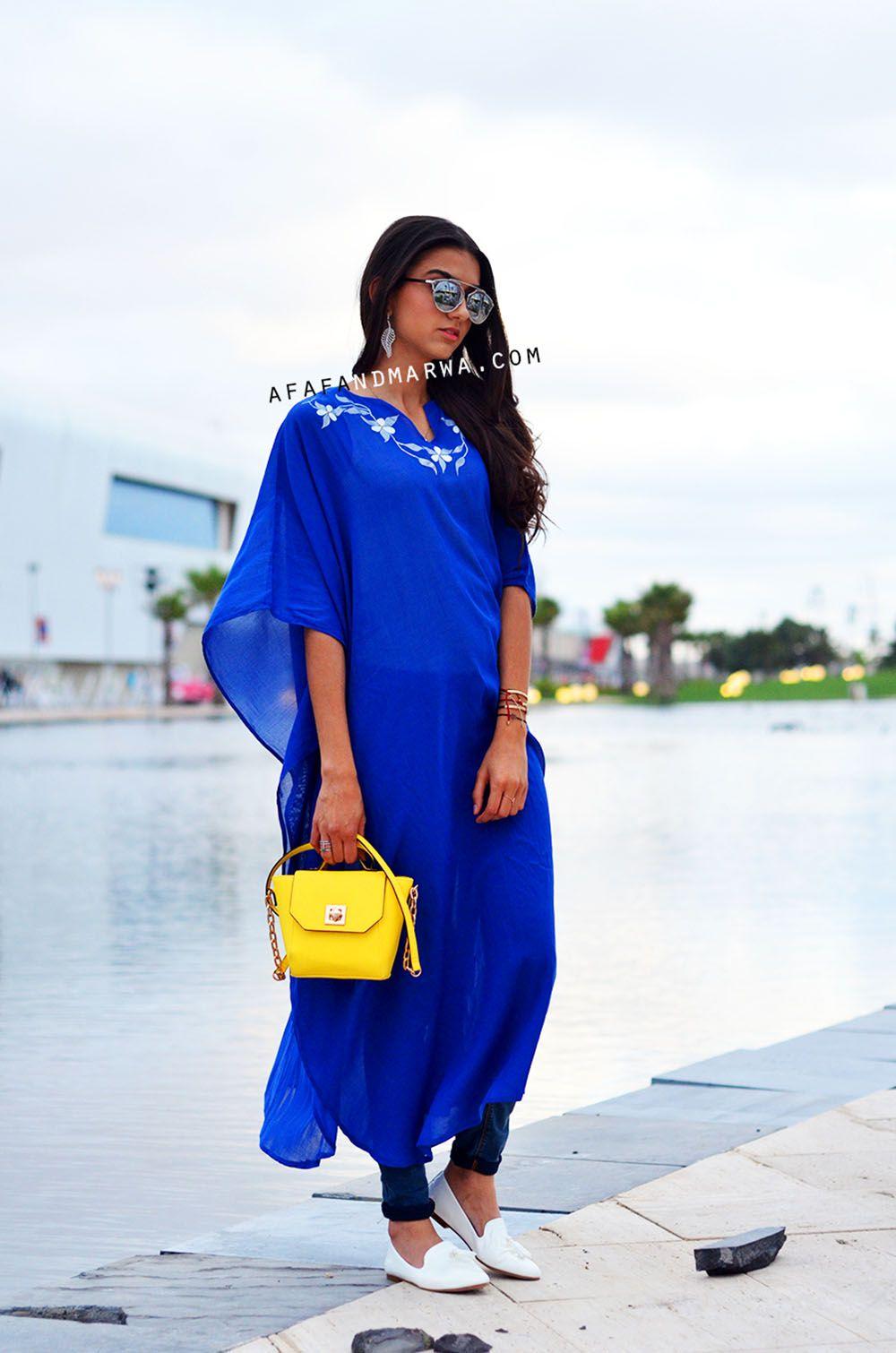 gandoura bleue, moroccan kaftan, tenue ramadan, ramadan outfit, moroccan  gandorua, afaf
