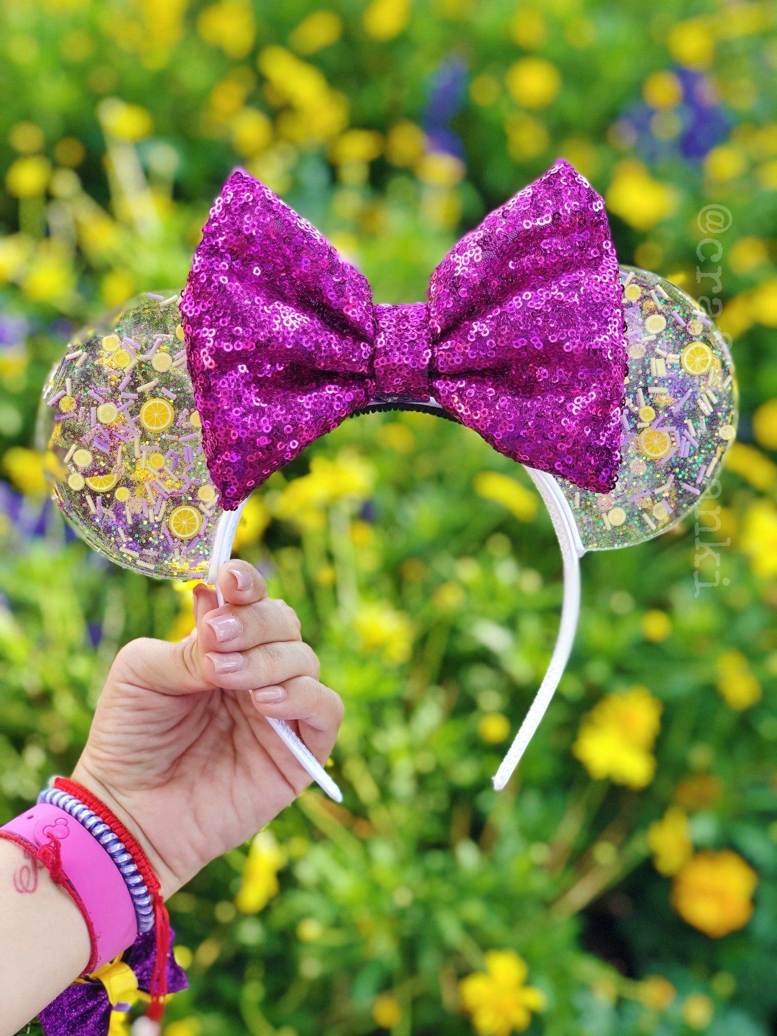 Purple Holographic Disney Inspired Ears Mickey Ears Disney Parks Ears Minnie Ears Mouse Ears