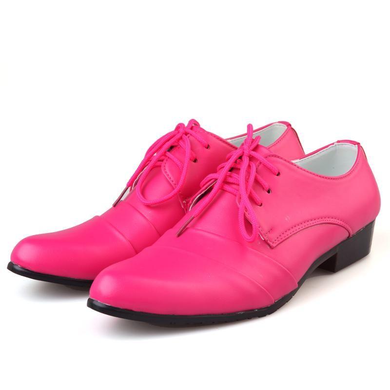 Cheap mens pink dress shoes