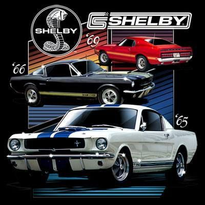 Black Mustang Cobra Short-Sleeves Shirt Baby Girls