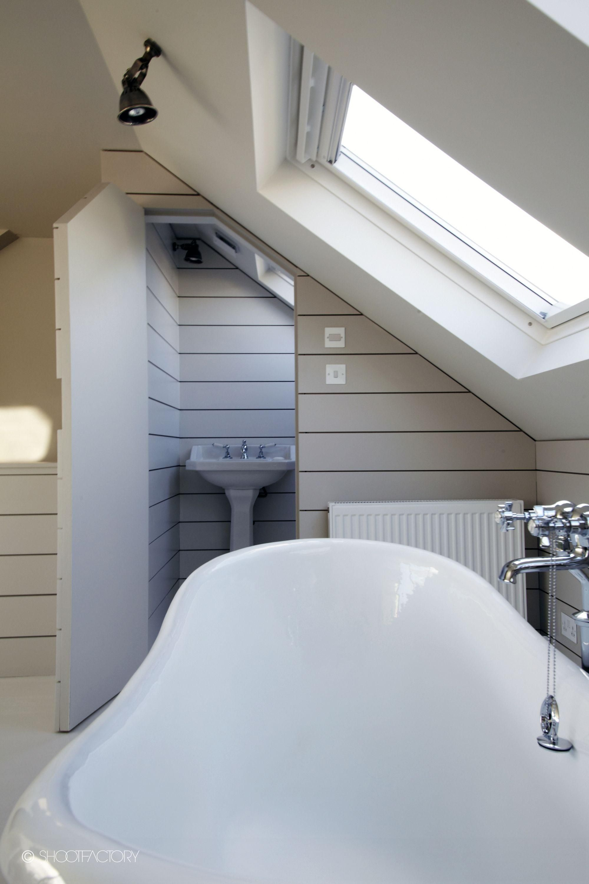 Vcdesign Loves This Sneaky Loo In Eaves Above Stairs