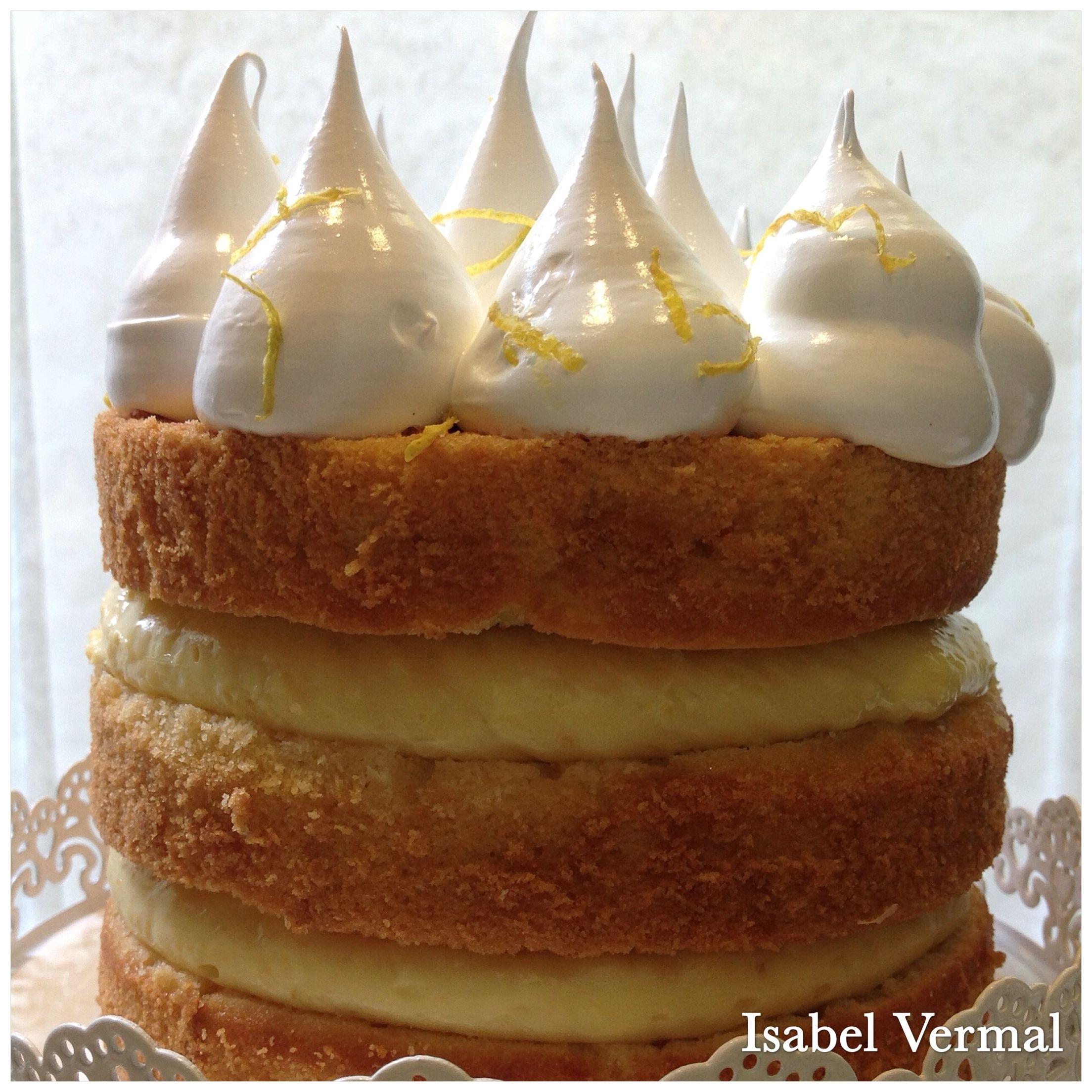 Torta vintage de limón: Biscuit de limón, crema de limón y