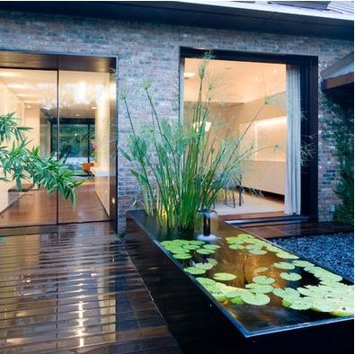 Love The Idea Of A Small Koi Pond By Our Front Door Along The