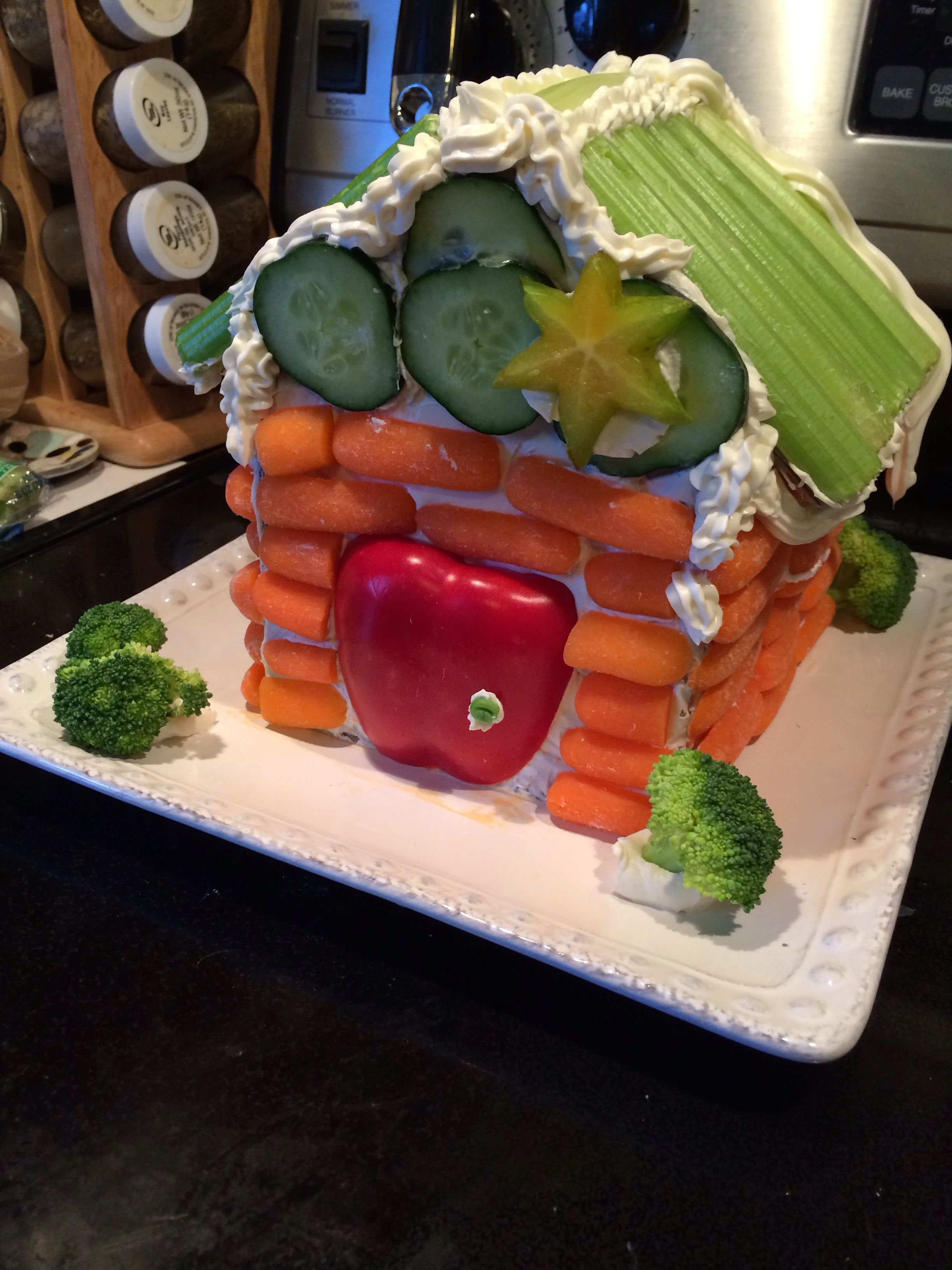 Veggie Lodge (Alternative To Gingerbread House) Holiday Drinksholiday Partiesholiday