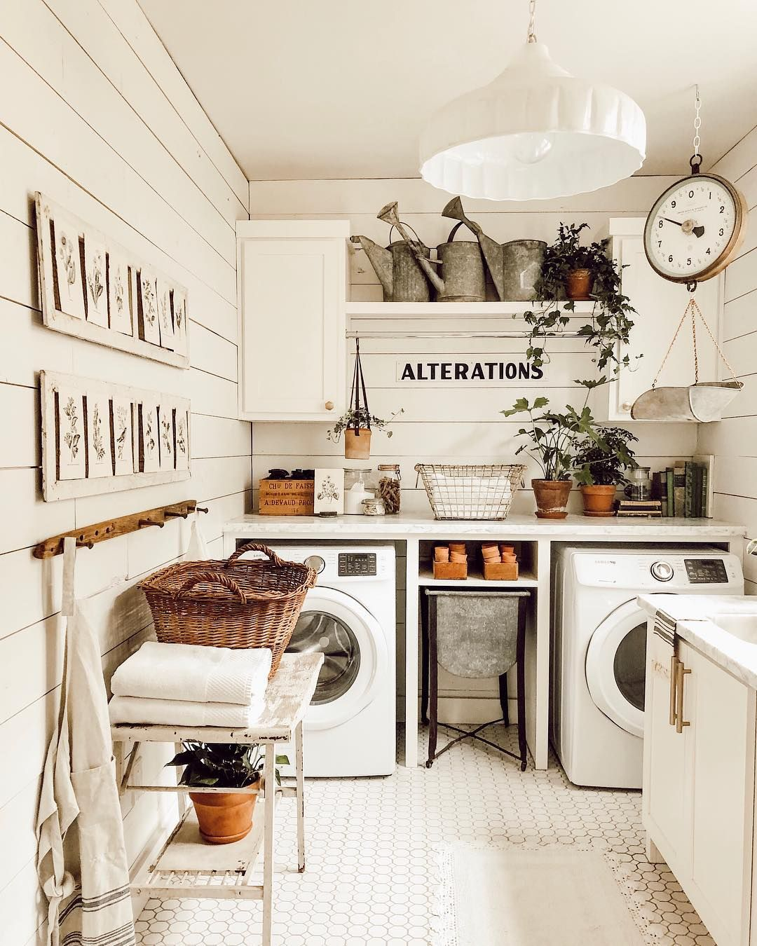 Jamie Whitetail Farmhouse On Instagram If You Follow Me On Pinterest Then You Know How Much I Love G Farmhouse Laundry Room Laundry Room Decor Laundry Room
