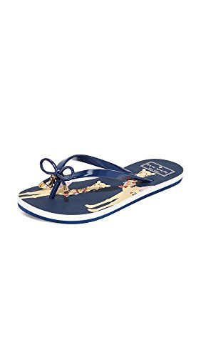 d52982a6c65 Kate Spade New York flip-flops detailed with a patterned footbed and slim  rubber straps. Logo charm at bow detail. Rubber sole.