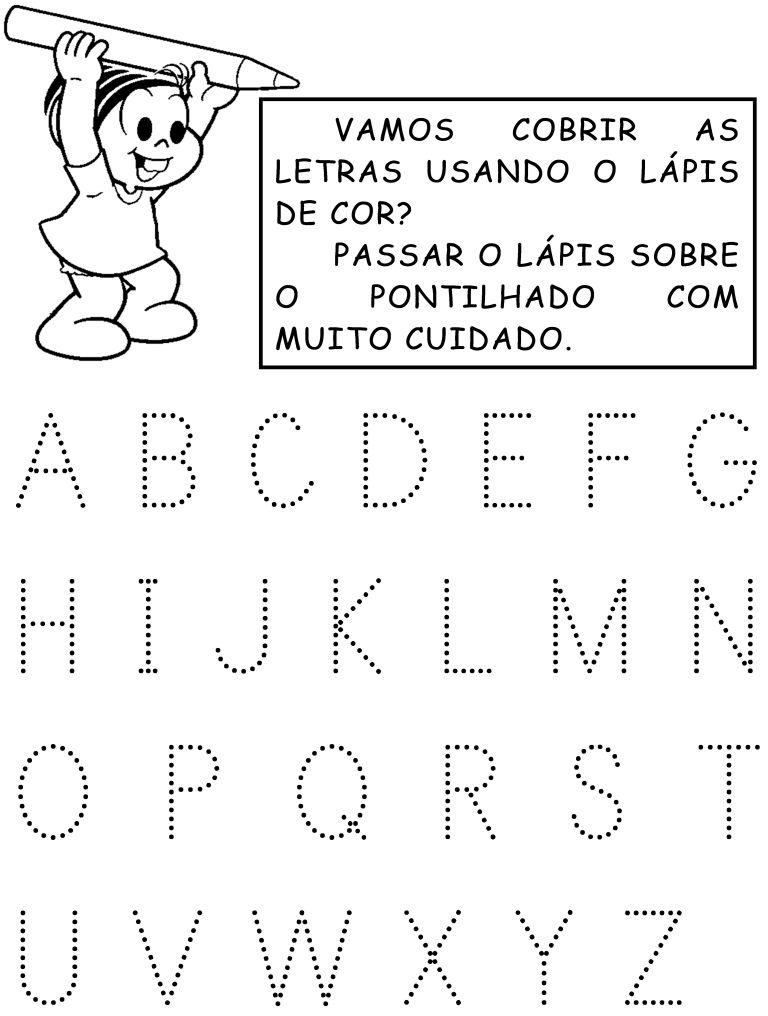 Atividades Com O Alfabeto Pontilhado Atividades Com Alfabeto Pre