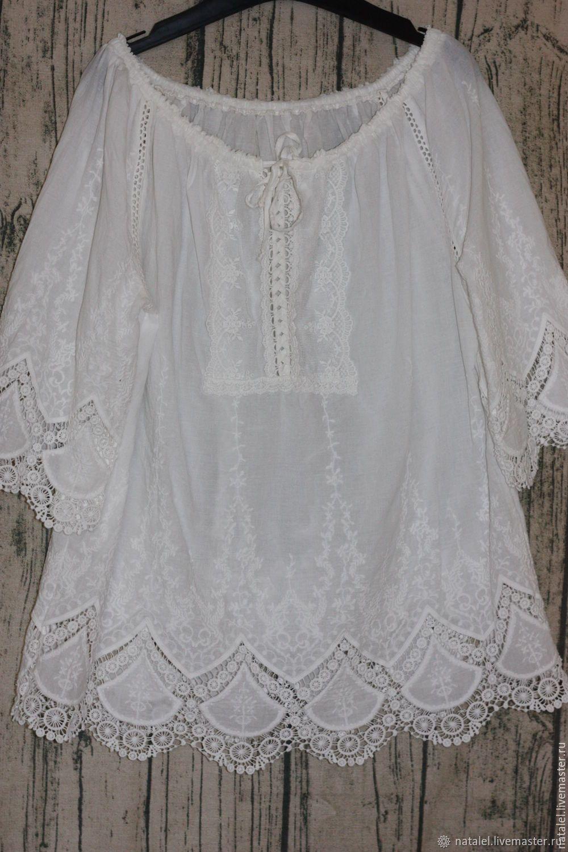 92e1f82ae010 Блузка-туника Ажурный купон, 100% хлопок, БОХО - купить или заказать ...