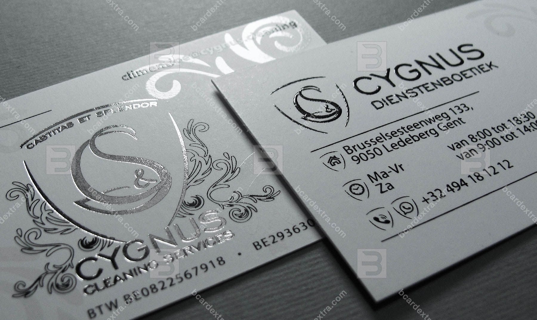 Business Card Cygnus Cleaning Service Company Printing Business Cards Luxury Business Cards Order Business Cards