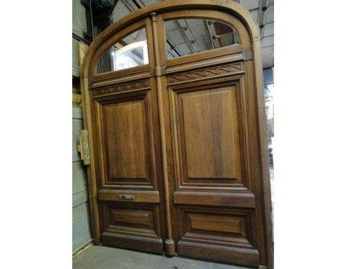 Huge Solid Mahogany Double Front Door. Original bronze mail slot left in door to maintain its history and character.