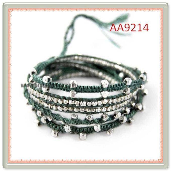 cristal austriaco hacer pulseras pulsera de cuero trenzado de cuero trenzado de cuerda spanish