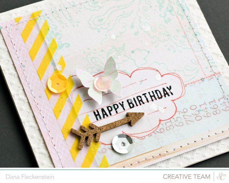 Handmade Pastelle Birthday Card By Pixnglue Using Studio Calicos