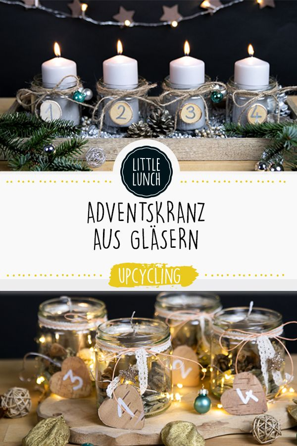 Upcycling: 3 Adventskranz DIY-Ideen   #adventskranzideenkinder