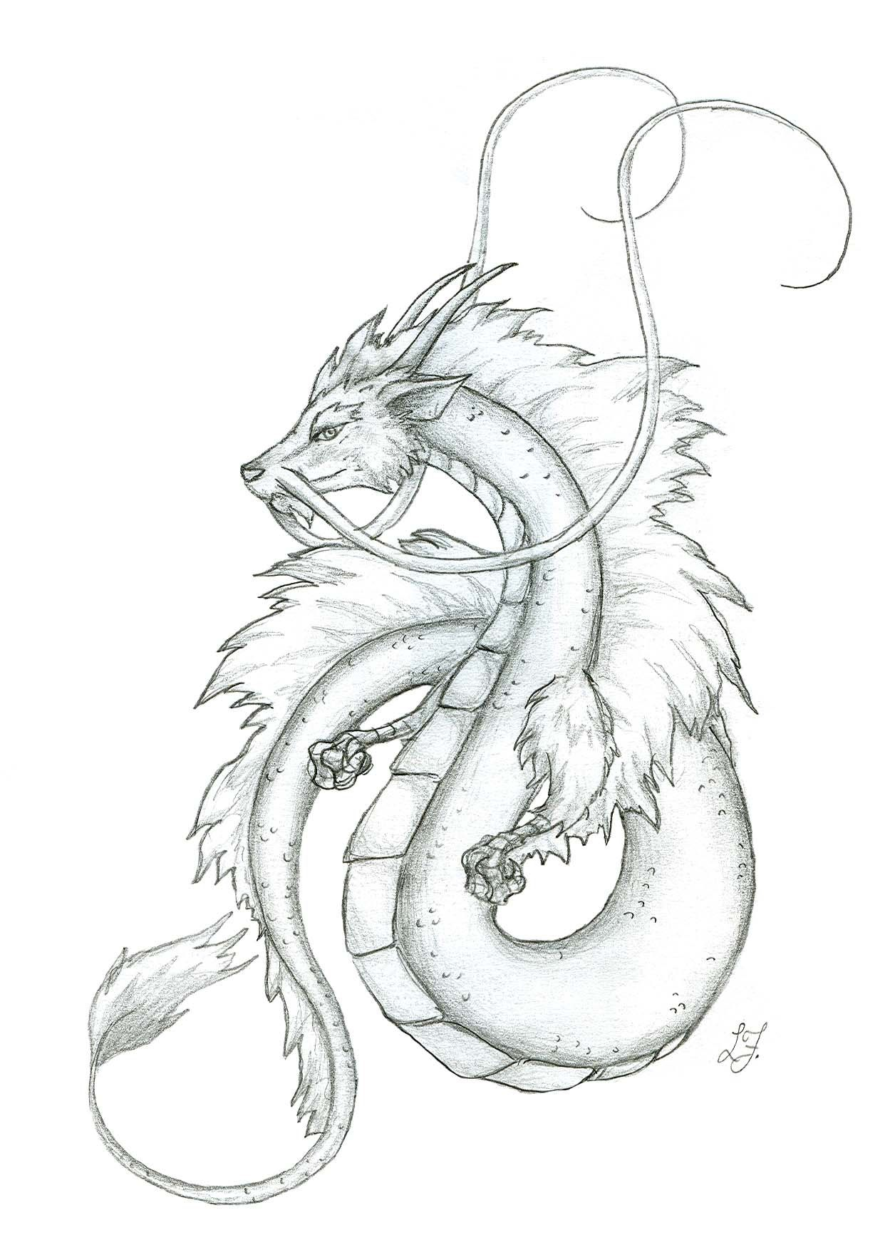 Japanese Dragon Sketches small japanese dragon by
