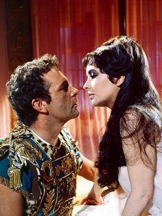 Richard Burton & Elizabeth Taylor in Cleopatra,1963