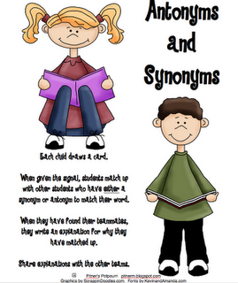 Matching game for antonyms/synonyms | Reading Rocks