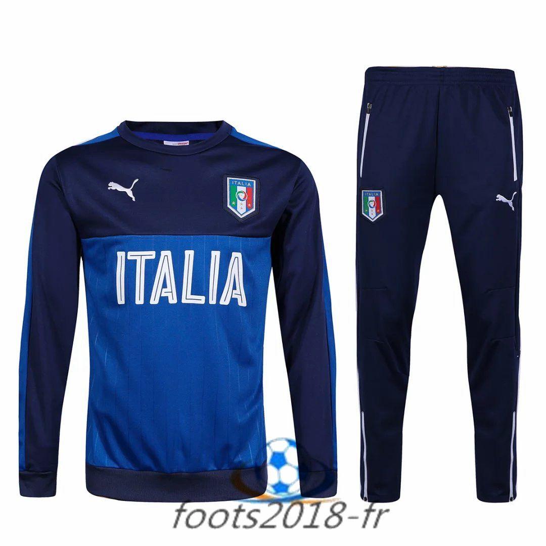 Nouveau Survetement de foot Italie BleuNoir 2016 2017