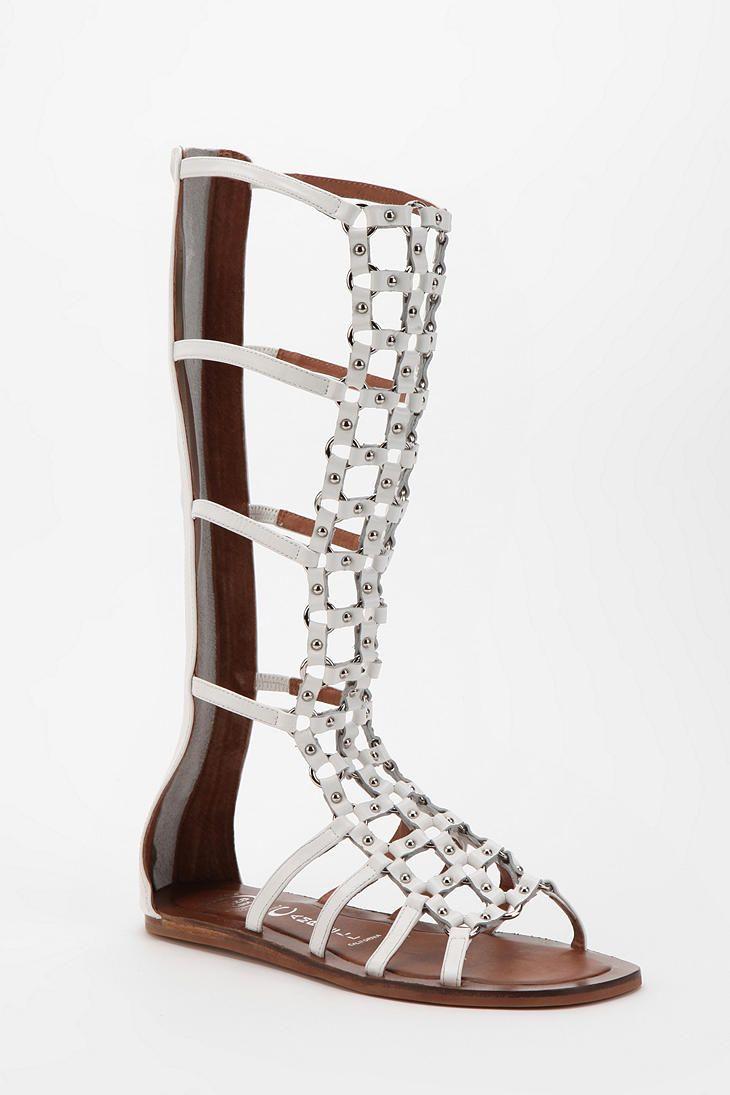 Jeffrey Campbell Alvar Tall Round Stud Caged Sandal
