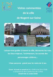 En juillet, visites commentées de la ville de Nogent sur Seine, avec l'Office d... #Art #Artiste