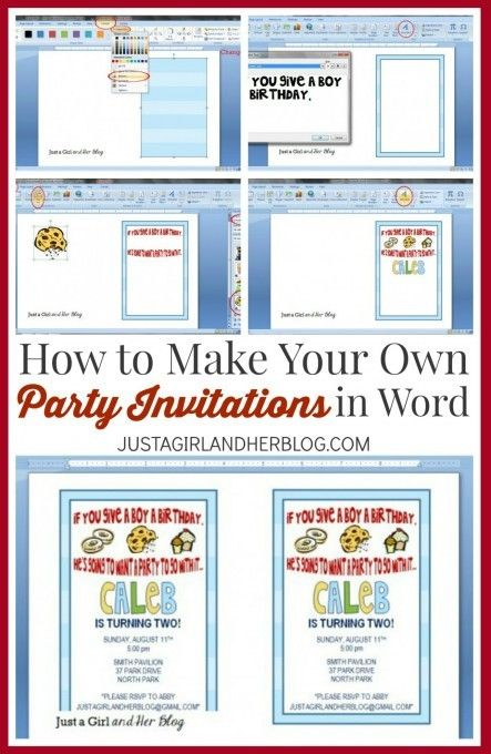 Learn how to make your own party invitations in Microsoft Word! This