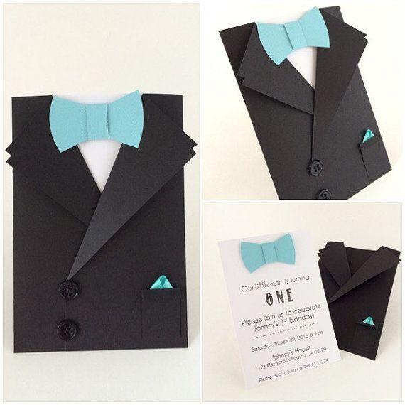 Tuxedo Card Bow Tie Card Mens Suit Shaped by CallMeCraftie ...