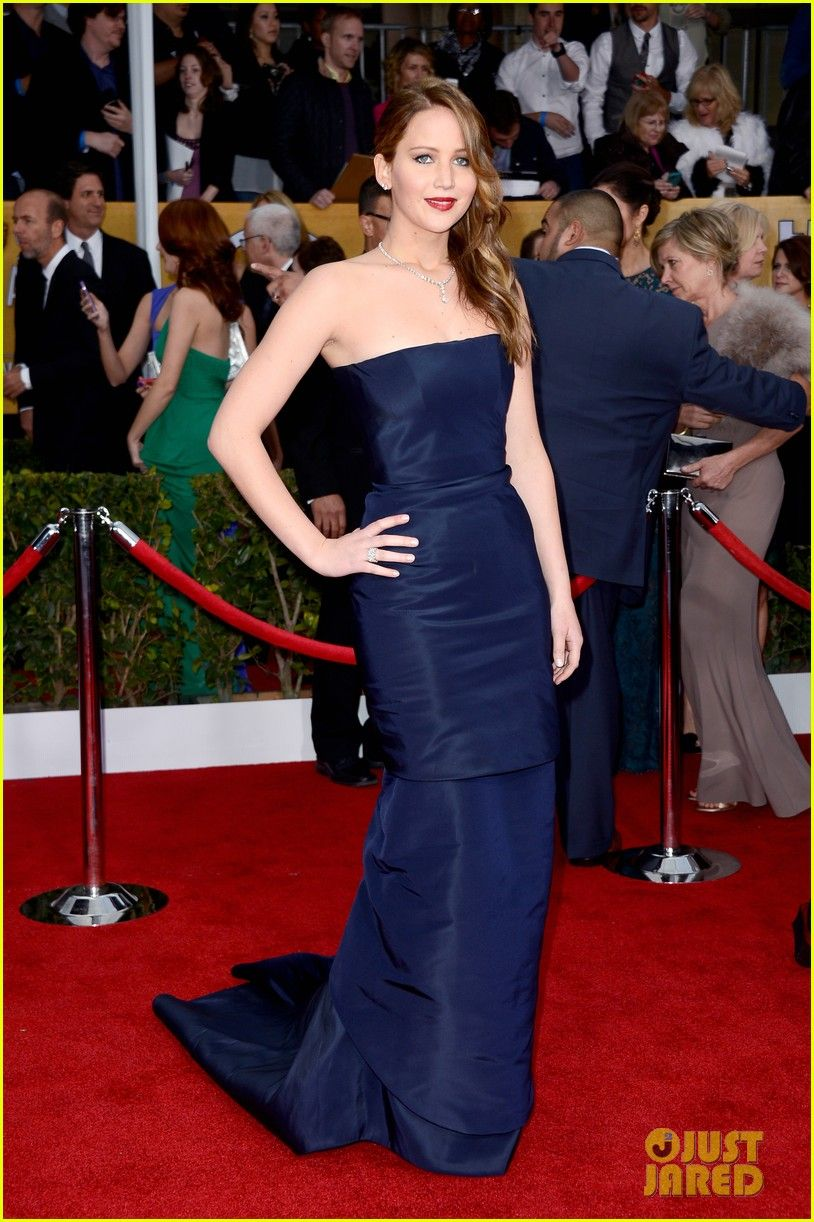 Jennifer Lawrence - SAG Awards 2013 love the color! Her makeup and hair is perfection