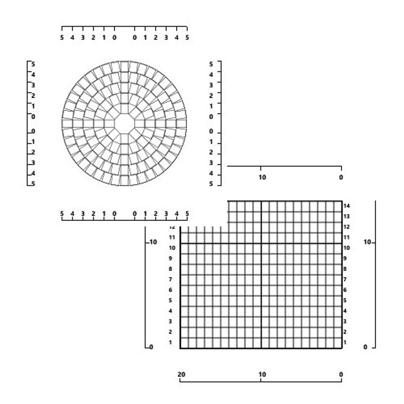 Mochila Style Bag Blank Graph Set Round Base 25 Rounds 8