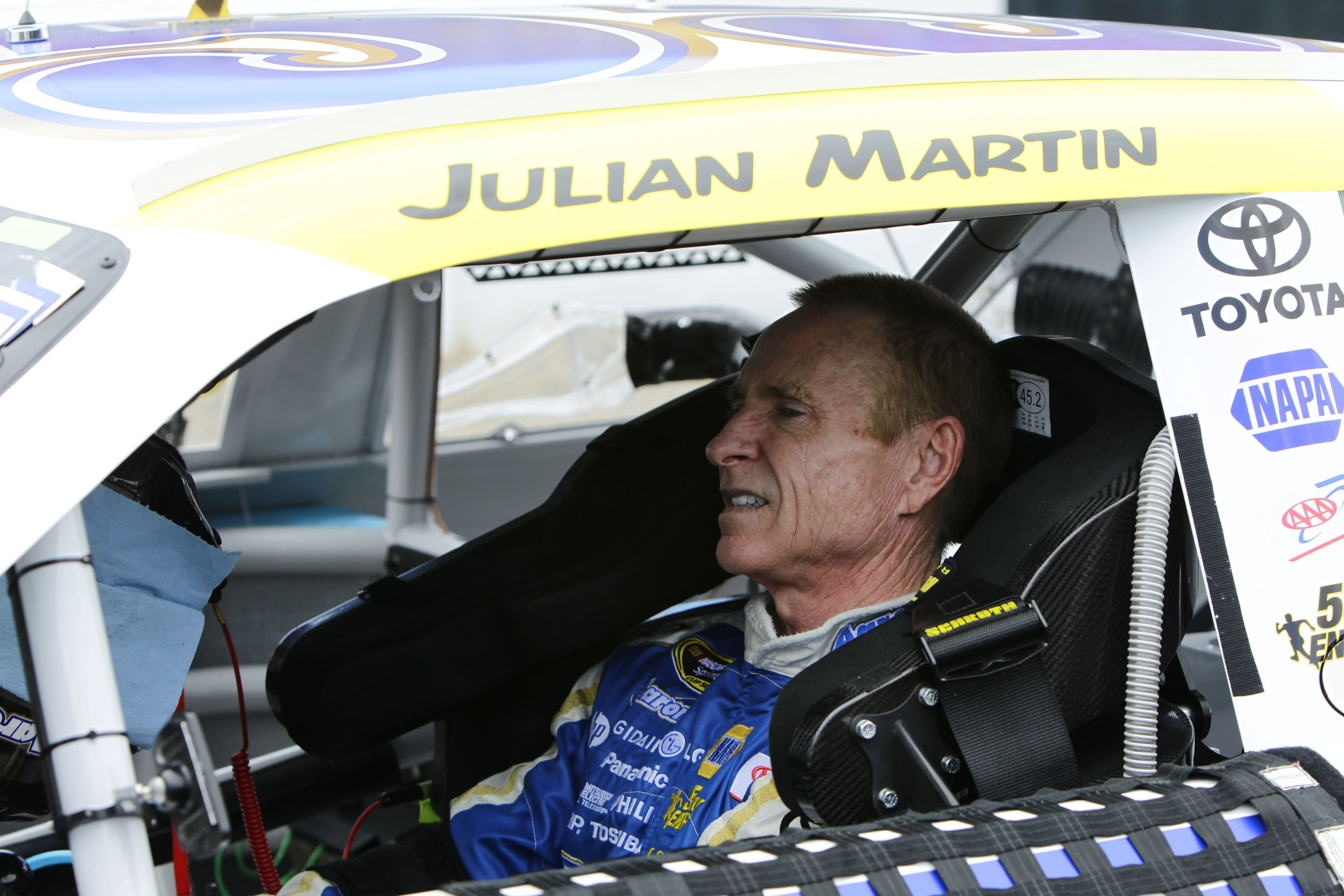 Mark Martin honors his Father above the door of his Aaron's Dream Machine.