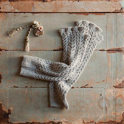 Crocheted Fingerless Gloves. 100% Alpaca. LOVE. Rachel Ashwell Shabby Chic Couture