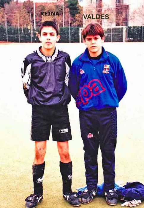 Young Pepe Reina & Victor Valdez