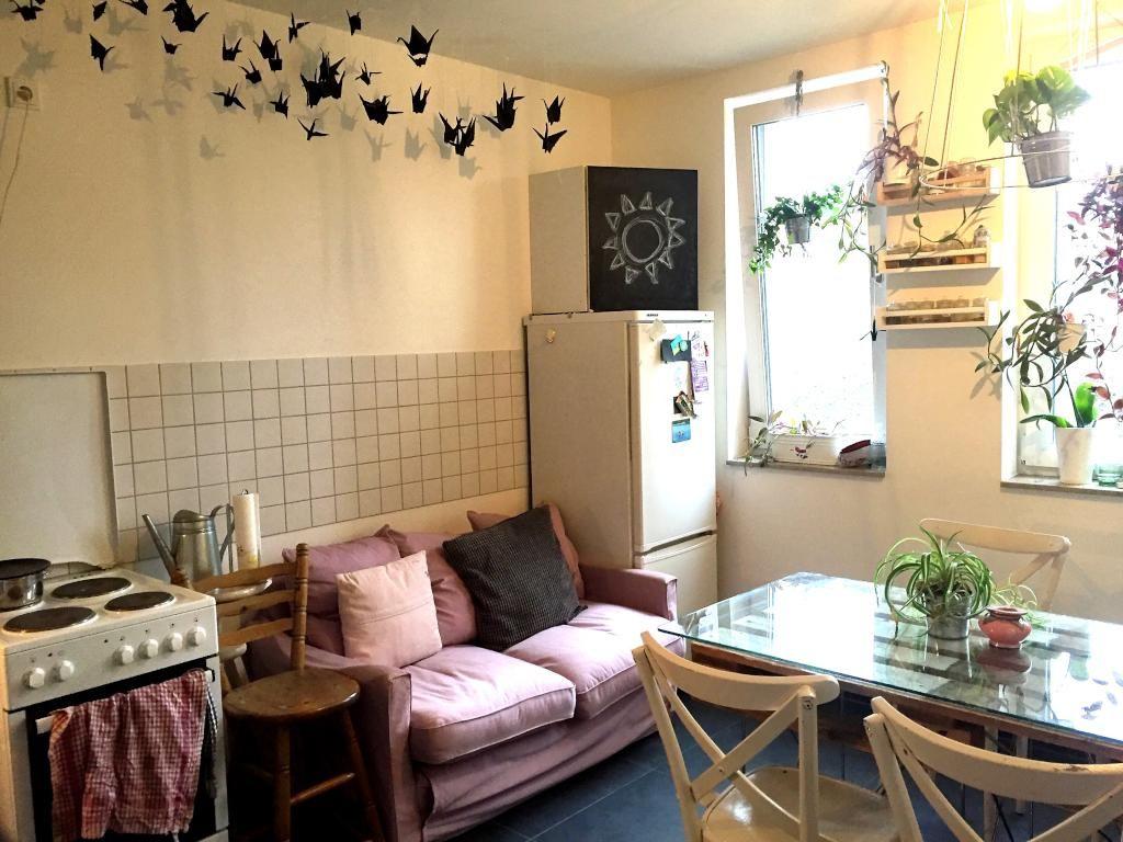 gem tliche wohnk che mit esstisch sofa esszimmer einrichtung einrichtungsidee esstisch. Black Bedroom Furniture Sets. Home Design Ideas
